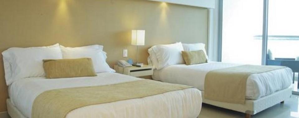 Habitación cama Twin.  Fuente: sonesta.com/Cartagena/